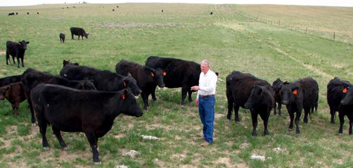 Tom Berry on his Montana Ranch