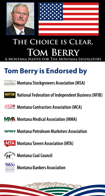 Tom Berry is Endorsed by Montana Businesses